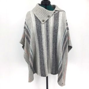 Eddie Bauer Knit Poncho with Open Sides, XS/S